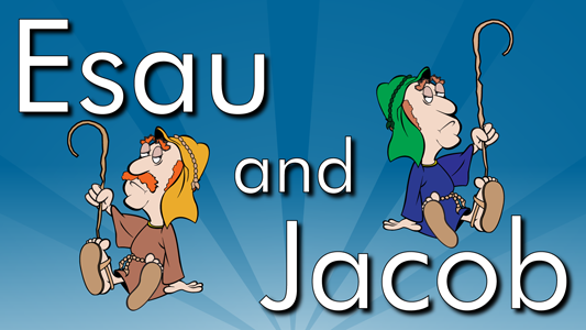 Esau and Jacob are born, Jacob cheats his brother and tricks their father Isaac